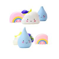 宝宝洗澡玩具软胶云雨原理戏水玩具儿童科教玩具雨滴彩虹气象雨云 气象宝宝4件套