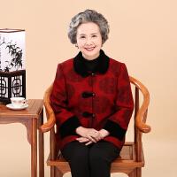 中老年人女装秋冬唐装绣花外套60-70-80岁妈妈装翻领上衣奶奶装