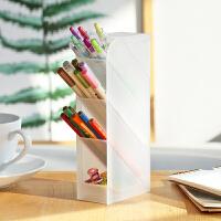 云木杂货 斜插式透明大容量学生笔架ins桌面收纳笔筒办公文具用品
