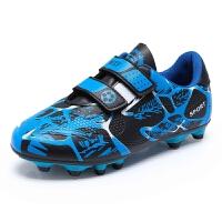 儿童足球鞋魔术扣球鞋皮足碎钉tf长钉AG男童女童青少训练鞋小学生
