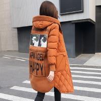 孕妇棉袄女韩版宽松中长款加肥加大a字型怀孕期冬装胖mm外套
