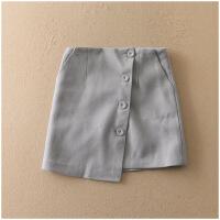 春季修身短裙加厚纯色包臀毛呢半身裙女22028