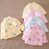 婴儿童装手工棉袄新生儿小孩冬季棉衣幼儿宝宝上衣冬装