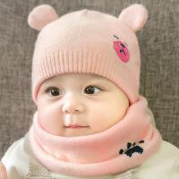 宝宝帽子秋冬季3-6-12-24个月幼儿童公主毛线帽韩版男女孩婴儿帽