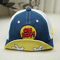 儿童棒球帽夏季薄款透气网眼鸭舌帽婴儿遮阳帽1-2岁