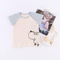 【618大促-每满100减50】新款夏季儿童t恤短袖薄款宝宝套头衫卡通恐龙婴儿衣服