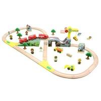 积木套装儿童玩具火车木质火车轨道玩具百变托马斯小火车