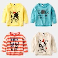 儿童T恤2岁宝宝长袖3春秋纯棉上衣4童装男童春装女童打底衫
