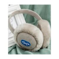 蓝牙音乐耳机耳罩冬季保暖耳套韩版可爱耳包男女仿兔毛绒耳捂冬天 银色 蓝牙音乐耳罩