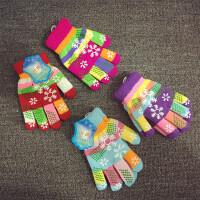 五指手套宝宝手套儿童手套加绒加厚男女童保暖秋冬天小孩分指手套