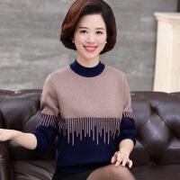 中老年女装秋冬新款加厚羊毛打底衫中年妈妈装半高领毛衣套头针织