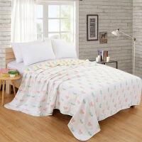 纱布毛巾被 盖毯六层纱布床单 卡通舒适透气