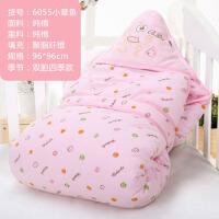 宝宝厚款可脱胆用品婴儿抱被包被春秋冬季棉质初生小被子