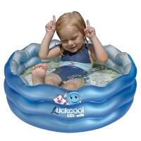 乐酷90cm 婴儿三环波浪水池充气泳池 儿童戏水池宝宝洗澡沐浴缸澡盆浴池海洋球池保温 乐酷三环波浪泳池