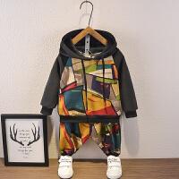 男童秋装儿童运动金丝绒两件套宝宝秋冬装套装