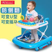 唯乐宝 婴儿童学步车6/7-18个月小孩防侧翻多功能婴幼儿宝宝脚步车带音乐