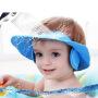 宝宝洗发帽小孩防水帽护耳洗头帽婴儿儿童洗澡帽浴帽可调节加大e5f