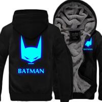 秋冬季加厚蝙蝠侠开衫外套男士 BATAN夜光卫衣动漫周边衣服 X