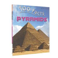 【首页抢券300-100】100 facts Pyrmaids 100个事实 金字塔 儿童英语科普百科读物 英文原版图书