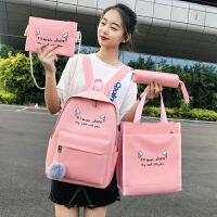 小学生书包女2020新款韩版初中高中学生校园百搭双肩包小清新简约