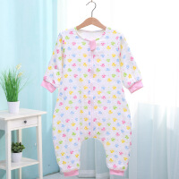 阳光菊 纯棉宝宝纱布分腿睡袋 婴儿印花卡通睡袋 空调睡袋 宝宝用品