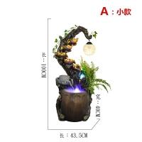新中式吊灯落地流水喷泉景观风水轮客厅办公装饰品加湿器水景摆件工艺礼品