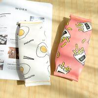 男女简约创意笔袋可爱学生笔袋铅笔袋大容量文具袋