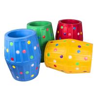 幼儿园户外大滚筒感统训练器材塑料彩色钻洞玩具儿童游乐设施滚圈