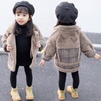 女宝宝秋冬装儿童女童皮毛一体外套
