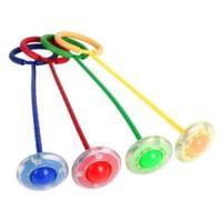 闪光跳QQ旋舞 旋转圈跳跳球儿童健身玩具 闪光跳跳环跳跳圈幼儿园 颜色 随机