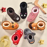 儿童雪地靴女童靴子男童棉靴冬季短靴宝宝童鞋