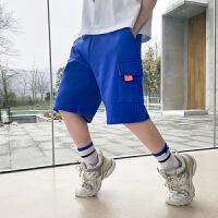 【2件2折】左西男童五分裤2021新款夏装儿童中大童韩版休闲短裤洋气夏季