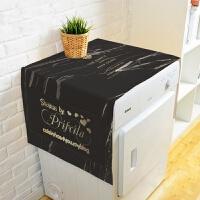 麋鹿简约棉麻滚筒洗衣机盖布单双开门冰箱多用盖巾防尘罩