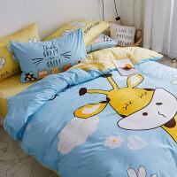 儿童四件套棉男孩卡通被套1.2米1.5m床单人三件套床上用品4 【床笠款】1.5m床 四件套 被套:200*230