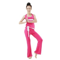健身训练新款瑜伽套装夏瑜背心长裤瑜伽服挂脖跳操健身服套装速干排汗透气舒适