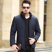 新款立领羽绒服男短款加厚中年爸爸装冬季加厚外套大码防寒服yrf