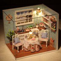 智趣屋房子模型diy手工创意木质玻璃球小屋情侣模型屋迷你公主房