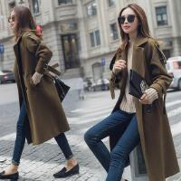 呢子大衣女韩国中长款反季女装秋冬款韩版学生bf原宿加厚毛呢外套