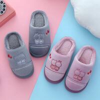 一家三口亲子情侣棉拖鞋冬季保暖居家儿童室内小孩毛拖鞋潮