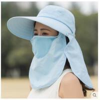 韩版潮遮阳帽防紫外线遮脸沙滩出游帽子女大沿骑车防晒太阳帽 可礼品卡支付