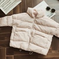 2017冬季新款韩版宽松短款棉衣女面包服学生羽绒外套棉袄潮流 粉红色 72小时内发货