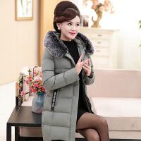 羽绒服 新品女中老年女装羽绒40-50岁中长款加厚保暖棉袄妈妈冬装棉衣外套