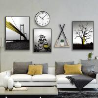 沙发背景墙客厅装饰画 北欧风格挂画墙面装饰壁画套装画五联艺术画