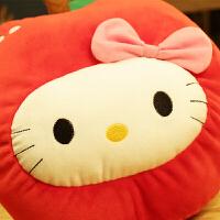 温冬卡通水果凯蒂猫咪双插手爆充电热水袋可拆洗注水暖宝宝
