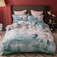 3D棉磨毛四件套棉1.5/1.8m2.0米加厚床单被套床上用品套件