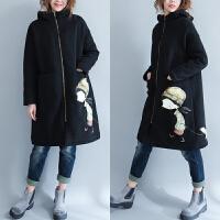 加肥加大码女装冬季女胖mm2017新款200斤胖妹妹外套加厚加绒棉衣