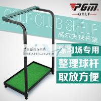 高尔夫球杆架 球杆展示架 钢制 绿色球杆架子 收纳练习场用品