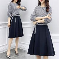 AGECENTRE 春装2018新款女装时髦套装女韩版时尚上衣配裙子半身裙气质两件套