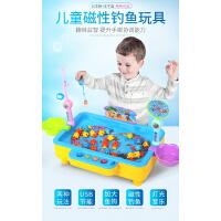 儿童钓鱼玩具池套装男女孩1-2-3岁宝宝小猫电动钓鱼磁性益智g2n