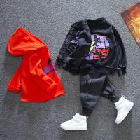 男童套装儿童卫衣宝宝中小童三件套